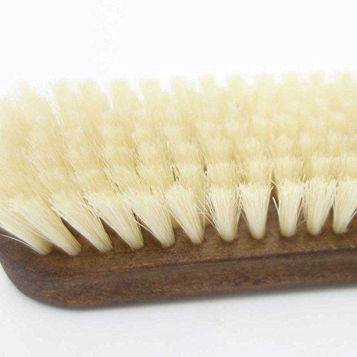 紗乃織刷子(さのはたブラシ)豚毛日本製最高級靴ブラシ・天然豚毛使用(ホワイト)