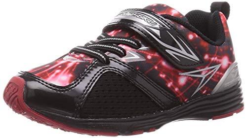 [シュンソク] スニーカー 運動靴 軽量 15~23cm 1E キッズ 男の子 SJC 8930 ブラック/レッド 18 cm E