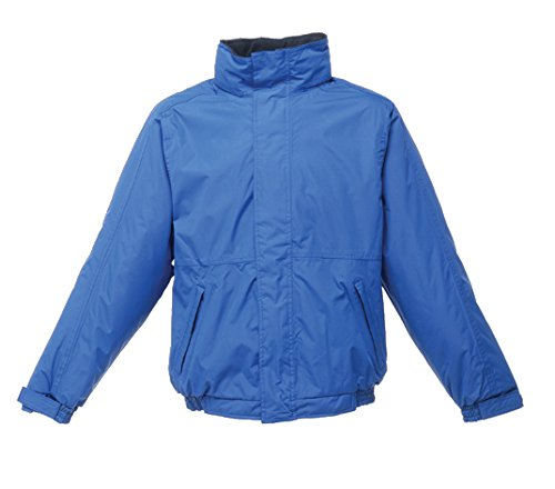 Regatta Dover Waterproof Concealed Hooded Fleece Lined Bomber Jacket Jackets Waterproof Insulated, Hombre, Royal Blue/Navy, 4XL