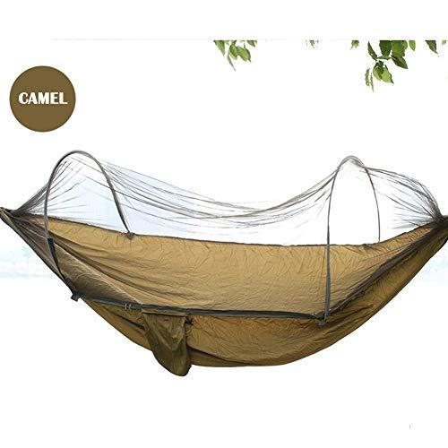 Hangmat Outdoor Swing, Volwassen Wieg Klamboe Hangstoel Home Slaapzaal Slaapkamer Netto Bed Student Double Anti-mug Hangmat (4 Kleuren),Camel,Single
