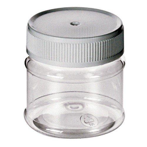 Kunststoffdose transparent 50ml - kleine Aufbewahrungs-Dose leer PET-Plastik glasklar mit Schraubdeckel
