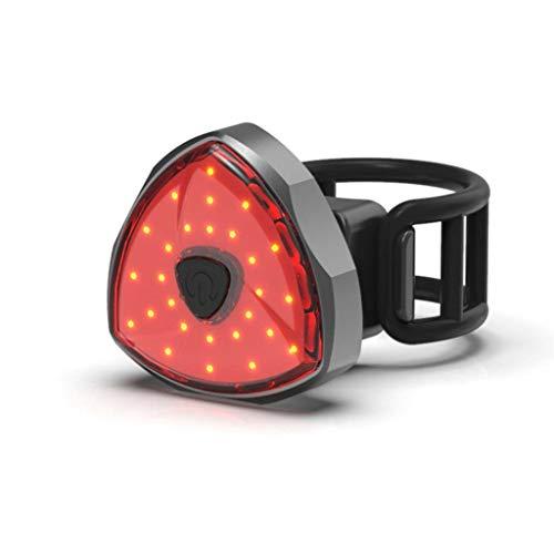 Liangcheng Bici Fanale Posteriore, Creativo Impermeabile Intelligente di Ricarica USB LED Posteriore Ultra Luminoso della Luce della Bici All'aperto Piccolo Sicurezza Spia,Smart
