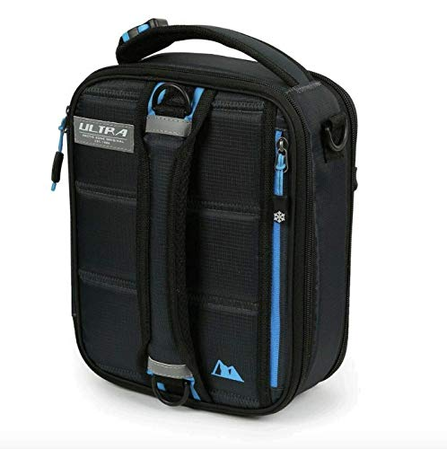 Arctic Zone Box-Navy Expandable Lunch Ultra Plus 4 Containers with lids and 2 Ice Packs, 10  x 8.5  x 4 , Black, Blue