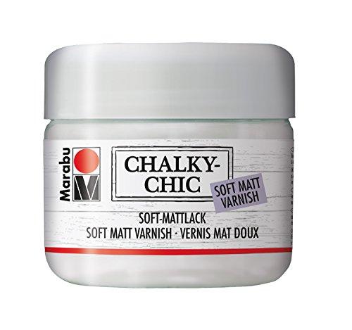 Marabu 02620025851 - Chalky Chic Soft - Mattlack, transparent 225 ml, Lack auf Wasserbasis, zur Versiegelung vieler Untergründe, zum Schutz von Chalky Chic bemalten Gegenständen im Außenbereich