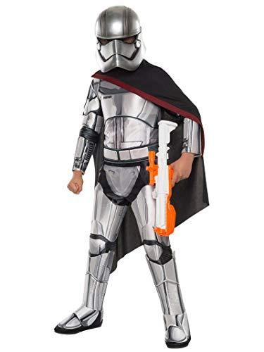 Generique - Captain Phasma-Lizenzkostüm für Kinder Star Wars grau-schwarz