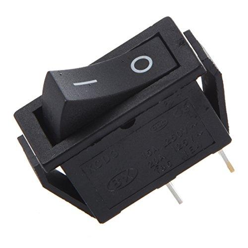 Senmubery 2 x Interruptor Basculante ON-OFF 2 Posicion SPST 2 Pin 16A/250V 20A/125V CA