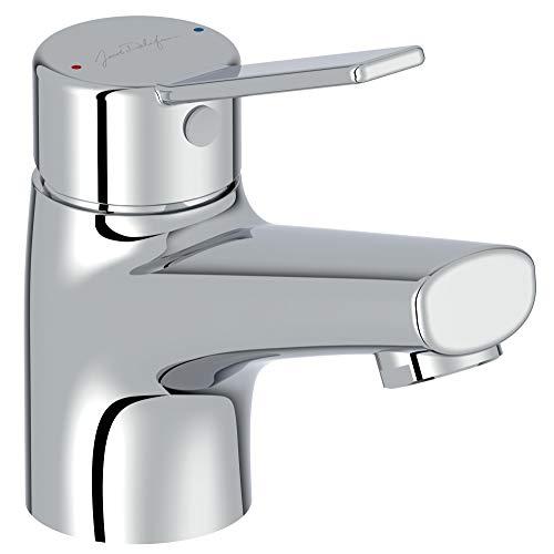 Jacob Delafon E24158RU-CP - Grifo monomando para lavabo Eo sin vaciado, CP, cromado