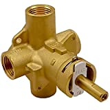 2510 Posi-Temp Pressure Balancing Valve Compatible with Moen Shower Valve, Brass Tub and Shower Valve, 1/2 Inch IPS Connections, with 1222 Faucet Cartridge & Retainer Clip