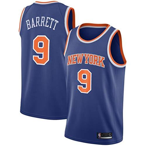 canottejerseyNBA RJ Barrett - New York Knicks #9, Basket Jersey Maglia Canotta, Swingman Ricamata, Abbigliamento Sportivo (Blu, M)