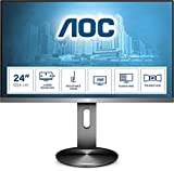 AOC Monitor I2490PXQU- 24' Full HD, 60 Hz, IPS, FlickerFree, 1920x1080, 250 cd/m, D-SUB, HDMI 1x1.4, Displayport 1x1.2