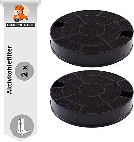 DREHFLEX - AK31-2 - 2 Aktivkohlefilter für Dunstabzugshaube, passend für Whirlpool 481249038013 & weitere, Maße ca. 193mm