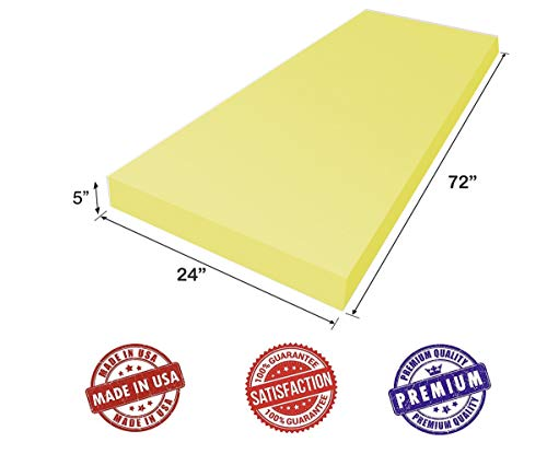 AKTRADING Dry Fast Reticulated Outdoor Foam - Perfect for Long Term Outdoor Patio Furniture use. (1' x 24' x 72')