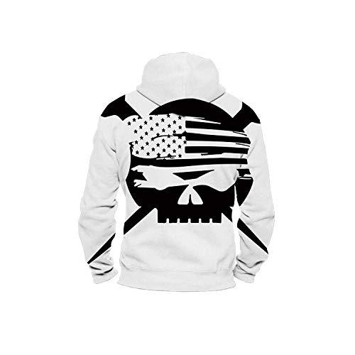 C COABALLA Ironworker Flag,Men's Zip up 3D Fashion Hoodies Sweatshirts XL
