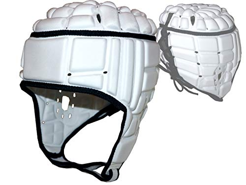 adidas Rugby Kopfschutz weiß Schoner Kopf Headguard Protektor Sport, Größe:L