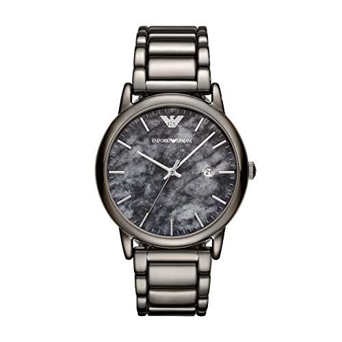 Emporio Armani Herren Analog Quarz Uhr mit Edelstahl Armband AR11155