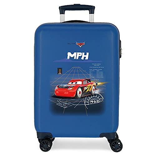 Disney Cars Rocket Racing Maleta de Cabina Azul 38x55x20 cms Rígida ABS Cierre combinación 34L 2,6Kgs 4 Ruedas Dobles Equipaje de Mano