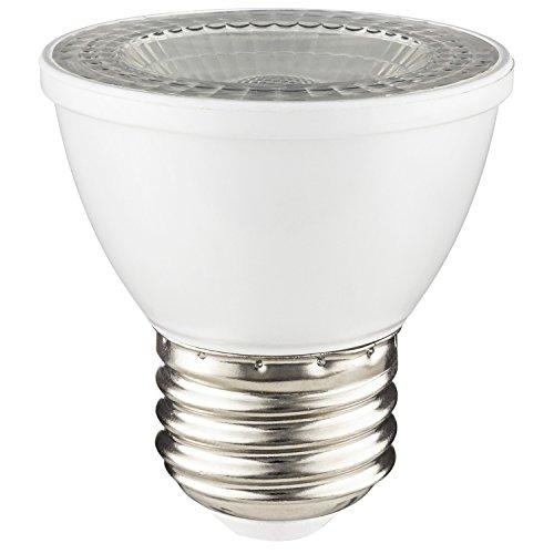 SUNLITE 80143-SU LED PAR16 Short Neck Light Bulb 8 watts (50W Equivalent), 500 Lumens, Medium (E26) Base, Dimmable, ETL Listed, 1 Pack, 50K - Super White