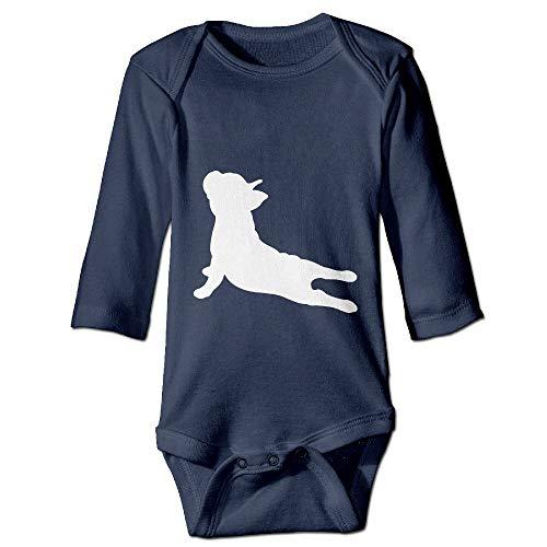 PUREYS-I Printed French Bulldog Yoga Funny Newborn Toddler Baby Long Sleeves Bodysuit Romper Jumpsuit