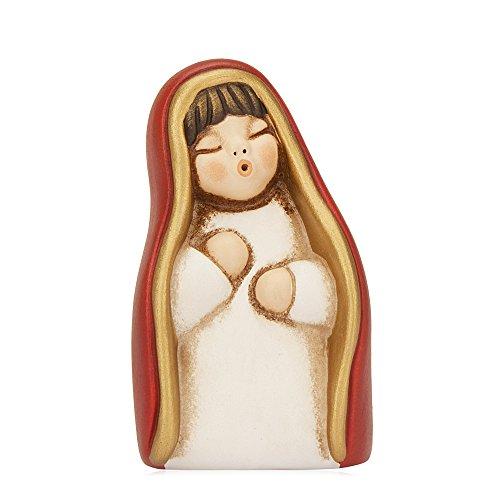 THUN® - Vergine Maria - Versione Rossa - Statuine Presepe Classico - Ceramica - I Classici