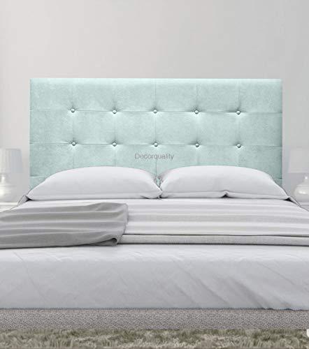 cabeceros de Camas Oslo cabeceros tapizados de Madera cabecero Acolchado cabecero Polipiel Blanco cabeceros para Dormitorio cabecero de Cama (Azul, 180 * 70)