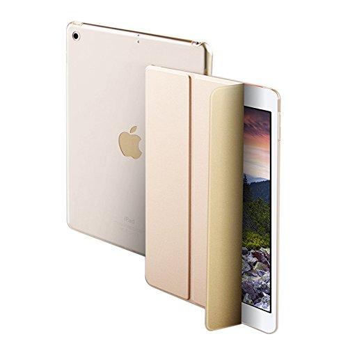 NALIA Custodia compatibile con iPad Pro 10,5 ' Pollici, Cover Ultra-Slim Smart-Case Protettiva con Stand-Fold Eco-Pelle, Tablet Bumper Sleeve Copertura Guscio Protezione Sottile, Colore:Gold Oro