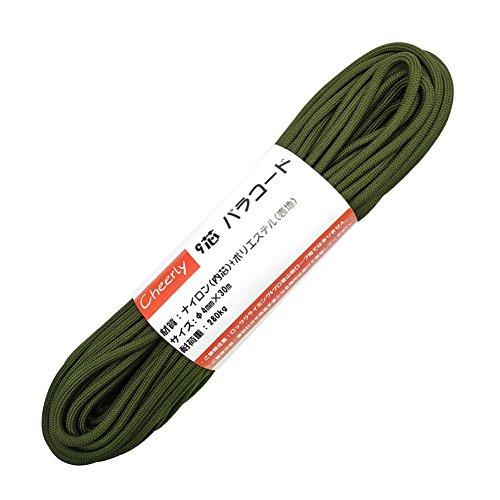 Cheerly パラコード 4mm 30m 9芯 テント ロープ パラシュートコード キャンプ サバイバル アウトドア 用 (...