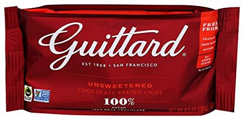 GUITTARD 100% Unsweetened Chocolate Baking Chips, 8.5 OZ