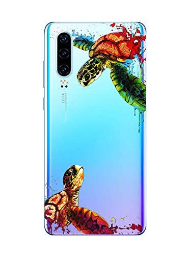 Suhctup Coque Compatible pour Huawei Honor Play Transparente en Silicone,Étui en Souple TPU Motif Animale Ultra Fine Antichoc de Protection Housse Bumper Case Cover pour Huawei Honor Play,A19
