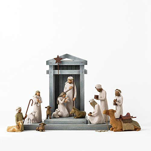 Willow Tree Nativity Deluxe Starter Plus The Three Wise Men and Camel, 14-Piece Set
