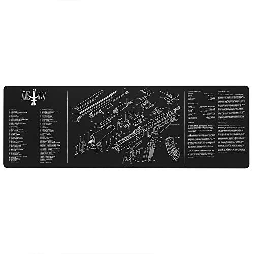 Mouse Pad 36 x 12 in, Gaming Mouse Pad Waterproof Oil Resistant Extra Large Workbench Mat, Extended Mouse Pad with Non-Slip Rubber Base and Stitched Edges Mousepad