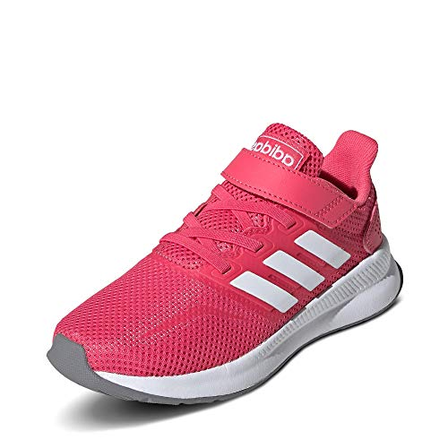 Adidas RUNFALCON C, Zapatillas de Running Unisex niño, Multicolor (Rosrea/Ftwbla/Gritre 000), 34 EU