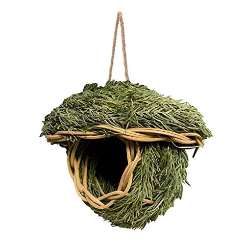 Xinying Casa di Colibrì in Erba Tessuta A Mano - Capanna per Uccelli Appesa all'Esterno Dell'erba...