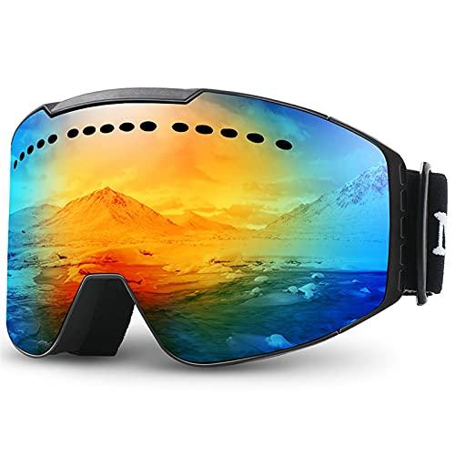 siqiwl Gafas de Natación Gafas de esquí Gafas UV Protección contra Niebla Gafas de Nieve para Hombres Mujeres Jóvenes Gafas