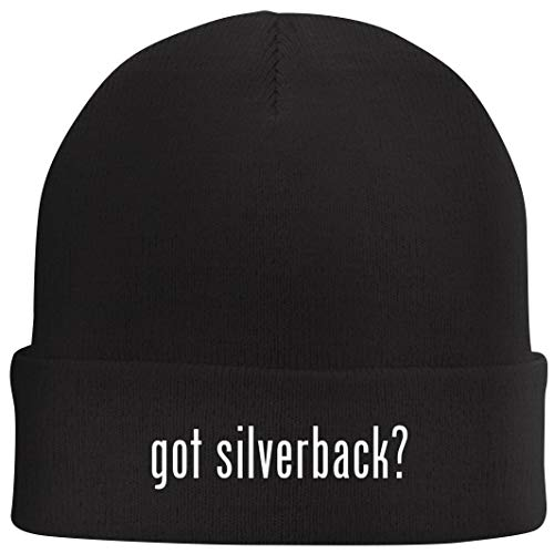 Tracy Gifts got Silverback? - Beanie Skull Cap with Fleece Liner, Black