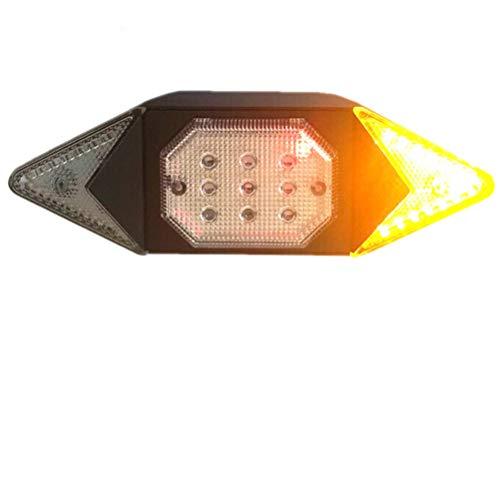 Kelisidunaec Fahrrad Rücklicht Blinker, 100 Lumen LED Rückleuchten Drahtlose wasserdichte Rückfahrscheinwerfer Bremswarnleuchte Kontrollleuchte USB wiederaufladbare Blitzleuchten