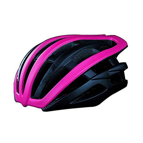 Fahrradhelm Integralhelm Mountainbike Rennrad Helm Rollschuh Helm Unisex Lila L (58-62cm)