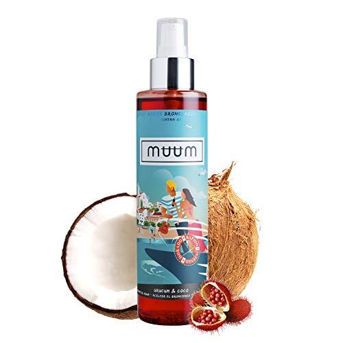 puissant muum – huile de bronzage à l'urc et à la noix de coco – promoteurs de bronzage avec antioxydants…