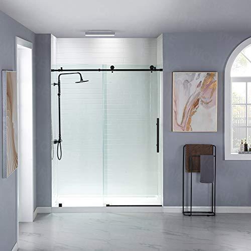 WOODBRIDGE PLUMBING_FIXTURE MBSDC6076-MBL Frameless Sliding Shower