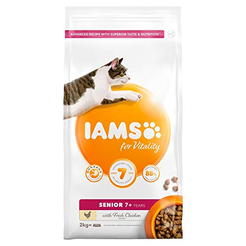 Iams For Vitality Senior Cat Food With Fresh Chicken, 2kg