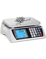 Steinberg Systems Balanza Cuentapiezas Báscula Digital SBS-PW-301CD (Acero inoxidable/PVC, LCD, Batería hasta 72 h, 30 kg / 1 g)