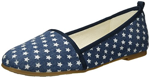 Tamaris Damen 24668 Slipper, Blau (Denim Stars 839), 36 EU
