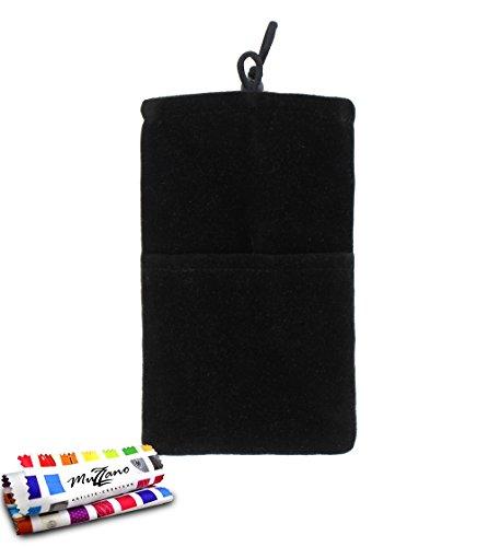 MUZZANO Tasche Alcatel OT/6033[Cocoon] [schwarz] Eingabestift und Reinigungstuch angeboten–Der Schutz stoßfest ultimative, Elegante und nachhaltige für Ihr Alcatel OT/6033
