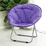 Dratal Oxford Large Saucer Chair,folding Chair With Metal Frame Soft Moon Chair Leisure Chair For Kids Adult Lounging Dorms Floor Chair (Multi Colour)