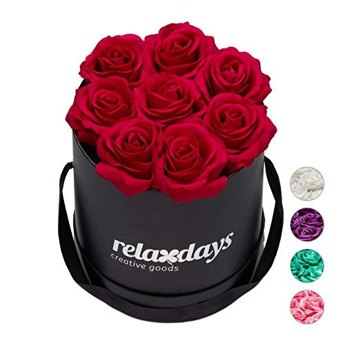 Birthdays Over 300+ Flowers on Every Rose Bear U UQUI Rose Bear with Heart - Clear Gift Box Included! Perfect for Anniversarys Etc Mothers Bridal Showers