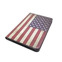 iPad Mini/iPad Mini2(Retina) 兼用 国旗デザイン フリップ スタンド ケース 星条旗(アメリカ国旗)