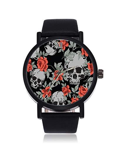 Grunge - Reloj de pulsera para mujer, diseño de calaveras h
