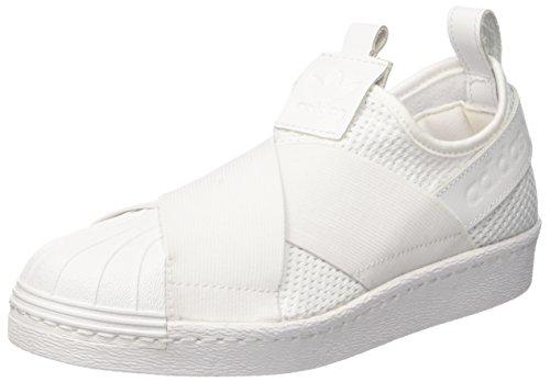 adidas adidas Damen Superstar Slipon W Basketballschuhe, Weiß (Ftwwht/ftwwht/cblack), 42 EU