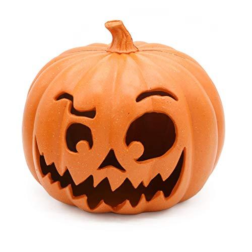 Halloween Horror Skull Pumpkin LED Lamp, Creative Lantern Home Props, Hanging Decorative Lamp, Halloween Decoration Light Up Party Decor Festival Gift Home Lantern (9.05x7.48in, Pumpkin)