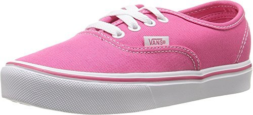 Vans Authentic Lite Hot Pink/White Girl's Sneakers Shoes (10.5)