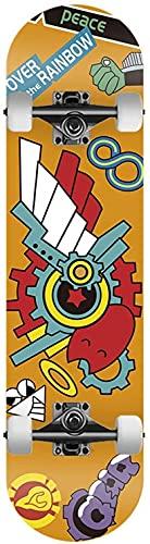 Skateboard The In-Finity, Adulti Adolescente Bambini auto-Toon Ani-Me Gatle Longboard per vacanze cosplay (Color : R, Size : Novice)